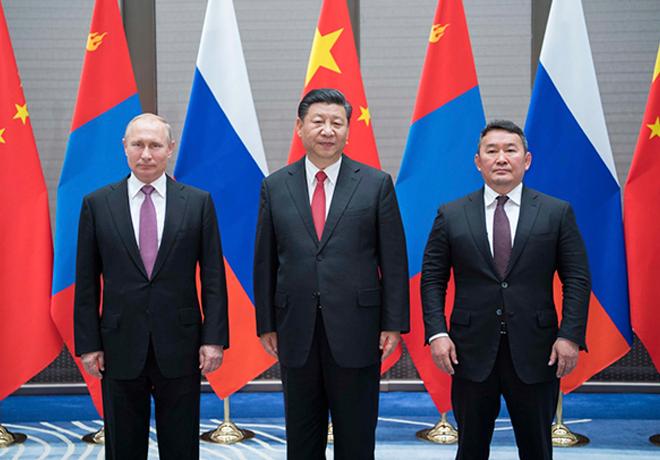 习近平主持中俄蒙元首第四次会晤