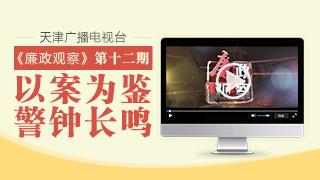 """天津广播电视台""""廉政观察""""专栏第十二期"""