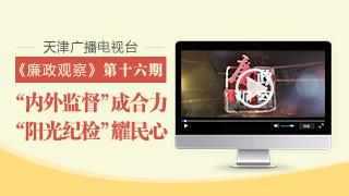 """天津广播电视台""""廉政观察""""专栏第十六期"""