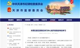 东丽区委区委理论学习中心组开展廉政专题学习