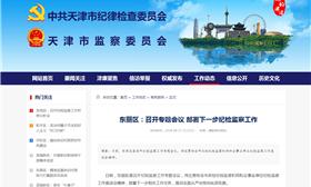 东丽区:召开专题会议 部署下一步纪检监察工作