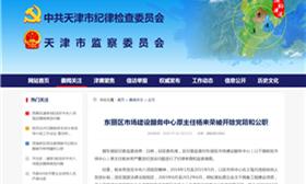 东丽区市场建设服务中心原主任杨来荣被开除党籍和公职