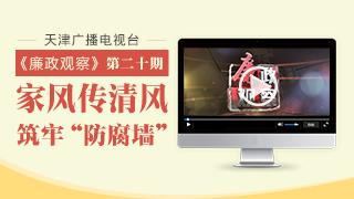 """天津广播电视台""""廉政观察""""专栏第二十期"""