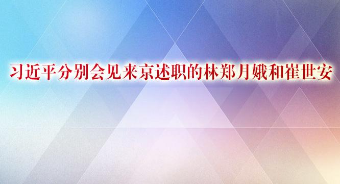 习近平分别会见来京述职的林郑月娥和崔世安