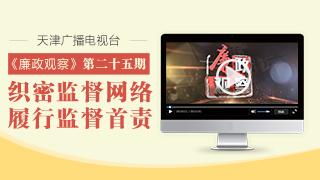天津广播电视台��廉政观察��专栏第二十五期