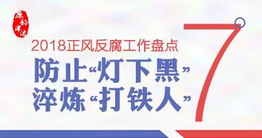 """【2018正风反腐工作盘点⑦】防止""""灯下黑"""" 淬炼""""打铁人"""""""
