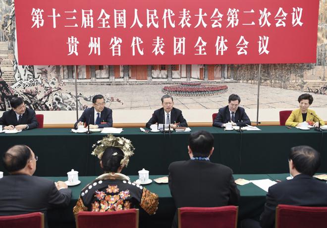 赵乐际参加贵州代表团审议