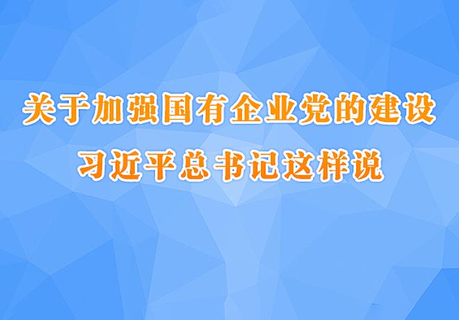 关于加强国有企业党的建设 习近平总书记这样说