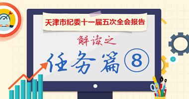 圖解天津市紀委十一屆五次全會報告丨任務篇⑧