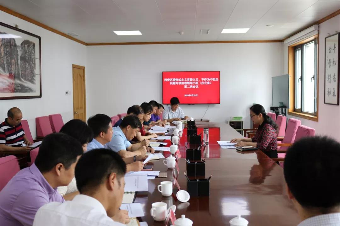 西青区召开形式主义官僚主义、不作为不担当问题专项治理领导小组(办公室)会议