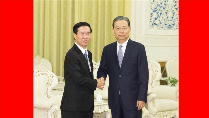 赵乐际会见越共中央政治局委员武文赏