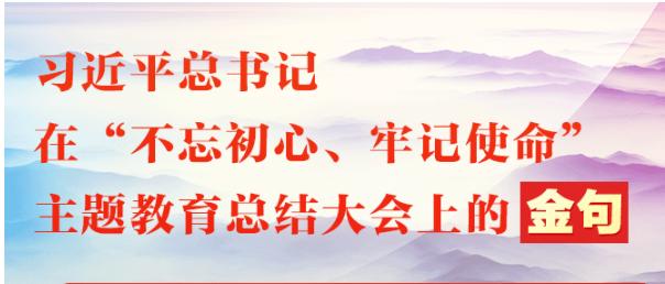 """习近平总书记在""""不忘初心、牢记使命""""主题教育总结大会上的金句"""