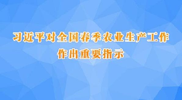 習(xi)近平對全國春季農(nong)業生產工(gong)作作出重(zhong)要指示