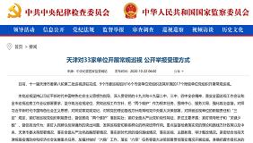 天津對33家單位開展常規巡視 公開舉報受理方式