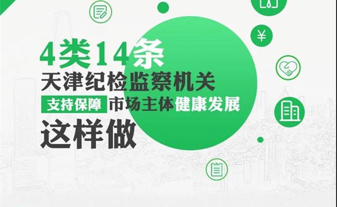 一图读懂丨4类14条!支持保障市场主体健康发展 天津纪检监察机关有实招