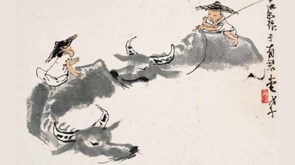 李可染与牧牛图