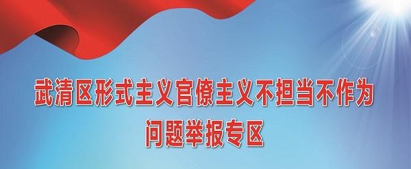 武清区形式主义官僚主义不担当不作为问题举报专区