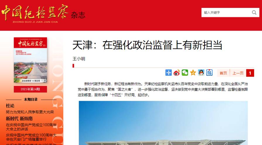 天津:在强化政治监督上有新担当