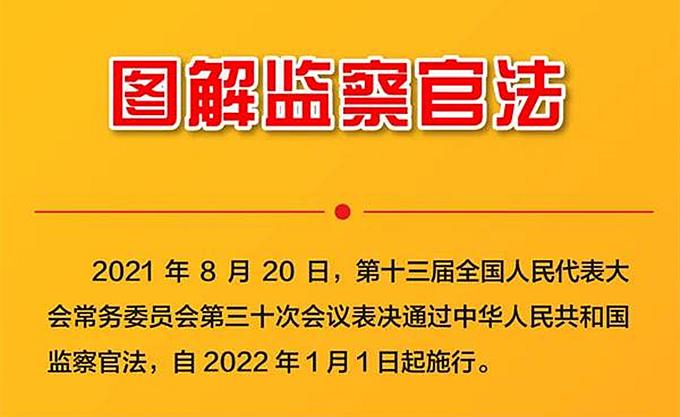 一图读懂《中华人民共和国监察官法》