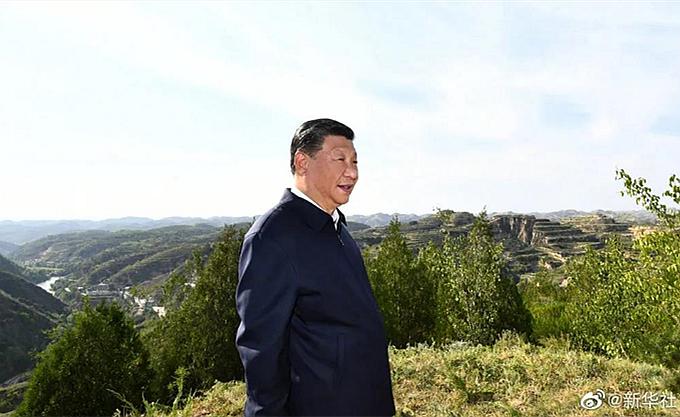 习近平在陕西榆林考察调研