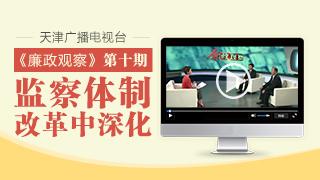 """天津广播电视台""""廉政观察""""专栏第十期"""
