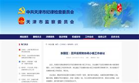 东丽区:召开反腐败协调小组工作会议