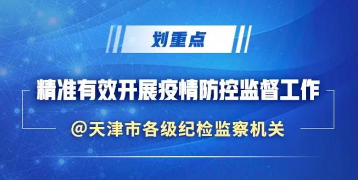 划重点!天津市如何精准有效开展疫情防控监督工作